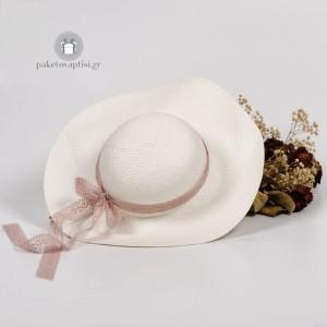 Καλοκαιρινό Πλεκτό Καπέλο Εποχής Δαντέλα Οld Pink