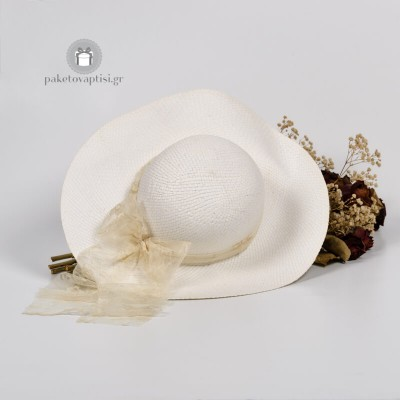 Καλοκαιρινό Πλεκτό Καπέλο Εποχής Τούλι Αντικέ