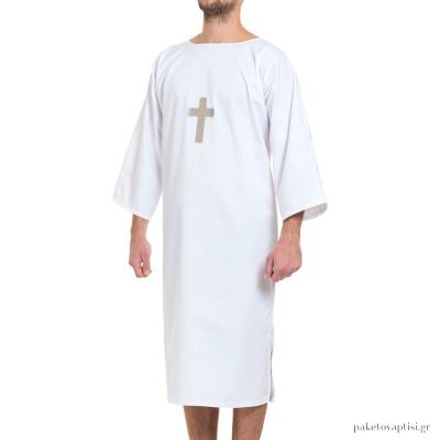 Βαπτιστικός Χιτώνας Λευκός Ανδρικός