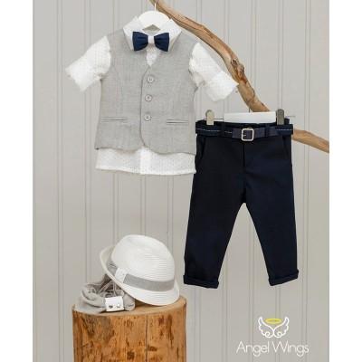 Βαπτιστικό Σύνολο για Αγόρια Eliot Blue | Angel Wings 170