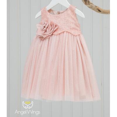 Βαπτιστικό Φόρεμα Pink Crystal | Angel Wings 148
