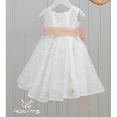 Βαπτιστικό Φόρεμα Dusty Pink Kelly | Angel Wings 150