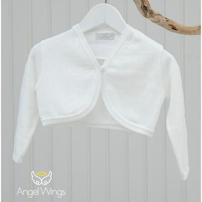 Βαπτιστικό Πλεκτό Μπολερό | Angel Wings 290
