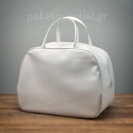 Τσάντα Βάπτισης Λευκή Απλή
