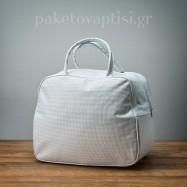 Τσάντα Βάπτισης Λευκή με Στράς