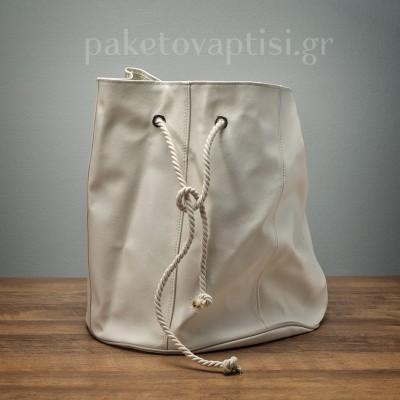 Τσάντα Βάπτισης Εκρού Πουγκί