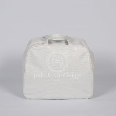 Τσάντα Βάπτισης Στράς Αστόλιστη Δερματίνη