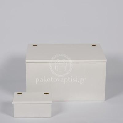 Ξύλινο Κουτί Βάπτισης Αστόλιστο Ορθογώνιο