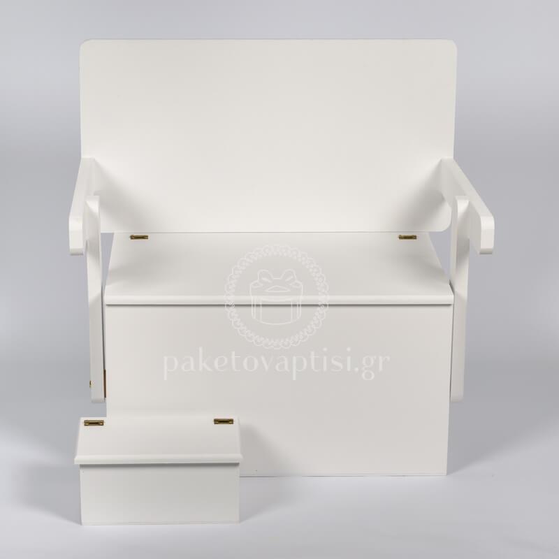 afc45e82cd Ξύλινο Κουτί Βάπτισης Αστόλιστο Καναπές Θρανίο