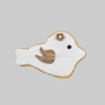 Μπισκότο Βάπτισης Λευκό Πουλάκι