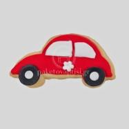 Μπισκότο Βάπτισης Κόκκινο Αυτοκινητάκι