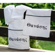 Personalised Λαδόπανο Βάπτισης για Αγοράκι με Κεντημένο Όνομα