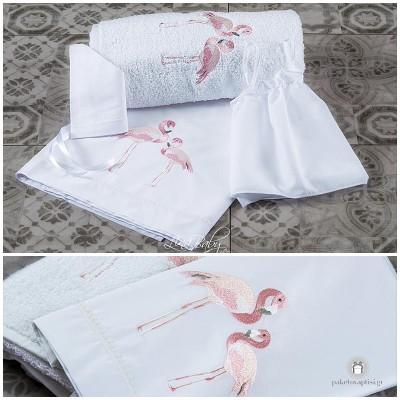 Λαδόπανο Βάπτισης Flamingo | Lina Baby 1365