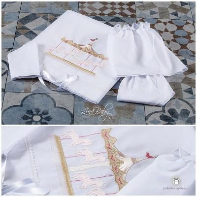 Λαδόπανο Βάπτισης Καρουζέλ | Lina Baby 1366