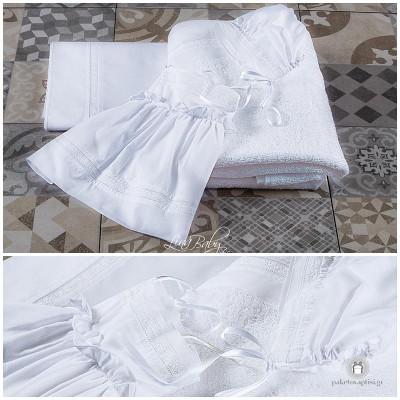 Λαδόπανο Βάπτισης Elegant Lace | Lina Baby 807