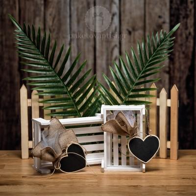 Mπομπονιέρα Βάπτισης Μαυροπίνακας Καρδιά