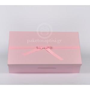 Χάρτινο Ροζ Κουτί Παρουσίασης για Μπομπονιέρες