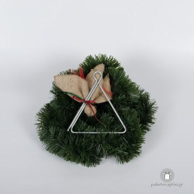 Μπομπονιέρα Βάπτισης Χριστουγεννιάτικο Τρίγωνο