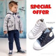 Σετ Ρούχο Mi Chiamo + Παπούτσια Βάπτισης Babywalker για Αγόρι 011