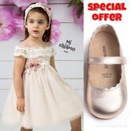 Σετ Ρούχο Mi Chiamo + Παπούτσια Βάπτισης Babywalker για Κορίτσι 013