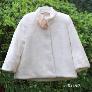 Χειμερινό Γούνινο Εκρού Πανωφόρι Mi Chiamo K4126