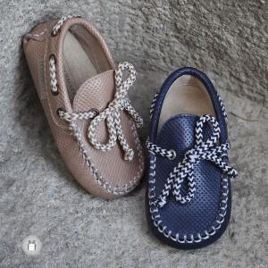 Καλοκαιρινά Loafers από Τυπωμένο Δέρμα για Αγόρια Babywalker EXC5040