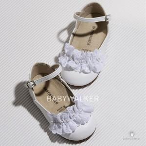 Γαλλικά Γοβάκια για Κορίτσια Διακοσμημένα με Broderie και Πέρλες Babywalker BS3529