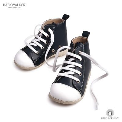Μπλε Μποτάκια με Κορδόνια Babywalker BS3008