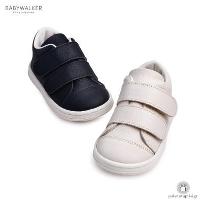 Δερμάτινα Sneakers με Διπλό Velcro Babywalker BS3028