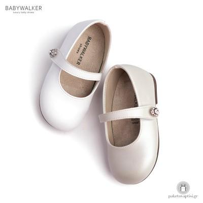 Γοβάκια για Κορίτσια με Μπαρέτα και Κουμπί Strass Babywalker BS3502