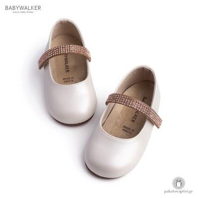 Γοβάκια με Μπαρέτα από Strass Babywalker BS3539