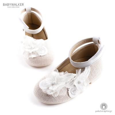 Γοβάκια με Μεγάλο Λουλούδι για Κορίτσια Babywalker BW4624