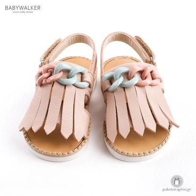 Δερμάτινα Σανδαλάκια με Κρόσια για Κορίτσια Babywalker BW4626