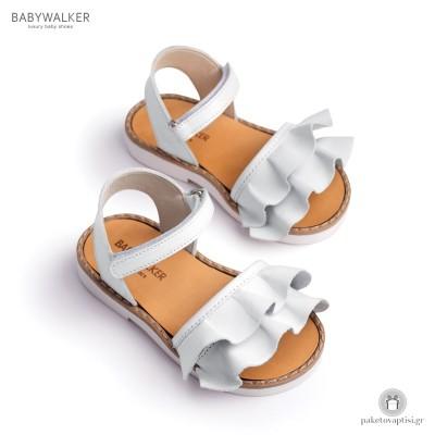 Δερμάτινα Πέδιλα με Βολάν για Κορίτσια Babywalker BW4627