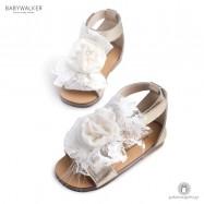 Χρυσά Πέδιλα με Διακοσμητικό Λουλούδι για Κορίτσια Babywalker BW4635