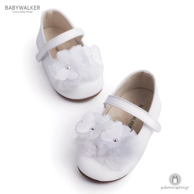Γοβάκια με Τούλινες Μπάλες και Πεταλούδες Babywalker BW4637