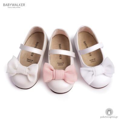 Γοβάκια με Υφασμάτινο Φιόγκο Babywalker BW4639