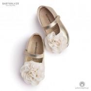 Δερμάτινα Γοβάκια με Chiffon Λουλούδι Babywalker BW4640