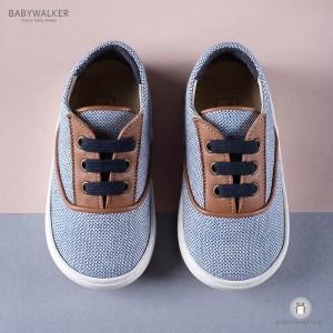 Δετά Sneakers από Ύφασμα και Δέρμα για Αγόρια Babywalker EXC5065