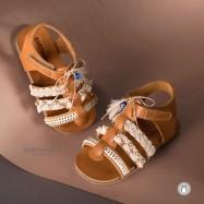 Δερμάτινα Boho Πεδιλάκια για Κορίτσια Babywalker EXC5596