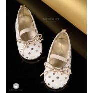 Δερμάτινες Πουά Μπαλαρίνες για Κορίτσια Babywalker EXC5641