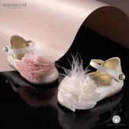 Γαλλικά Γοβάκια με Chiffon Λουλούδι για Κορίτσια Babywalker EXC5642