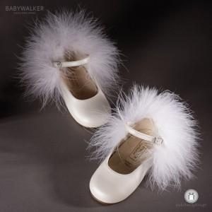 Γαλλικά Γοβάκια Διακοσμημένα με Μαραμπού Babywalker EXC5653