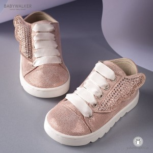 Sneakers με Φτερά από Strass Swarovski Babywalker LU6038