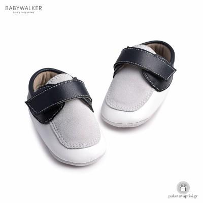 Δερμάτινα Loafers Αγκαλιάς με Velcro Babywalker MI1053