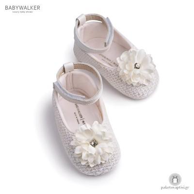 Μπαλαρίνες Aγκαλιάς με Satin Λουλούδι Babywalker MI1550