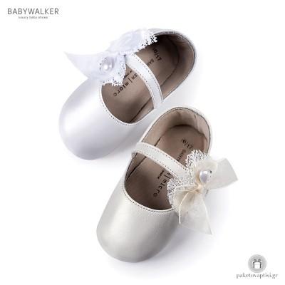 Μπαλαρίνες Aγκαλιάς με Chiffon και Δαντέλα Φιογκάκι Babywalker MI1555