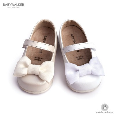 Παπουτσάκια για τα Πρώτα Βήματα με Μπαρέτα και Satin Φιογκάκι Babywalker PRI2525