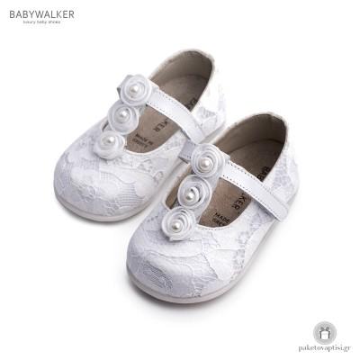 Γοβάκια Δαντελένια για τα Πρώτα Βήματα Babywalker PRI2550