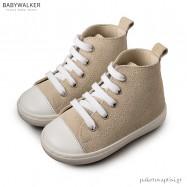 Δερμάτινα Μπεζ Δετά Μποτάκια Sneakers Babywalker BW4029